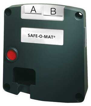 Cerradura de moneda SAFE-O-MAT<sup>®</sup>,Con 2 compartimentos para introducir moneda